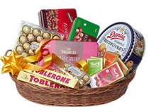 Large Basket of Mixes Chocolates